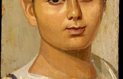 A beautifully preserved portrait of a boy named Eutyches