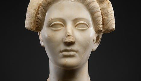Head of young attractive woman