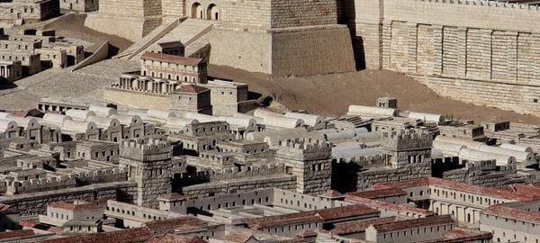 Antonia Fortress on a giant plan