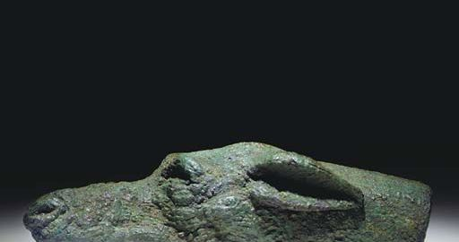Rzymski obiekt ukazujący wydłużony pysk psa