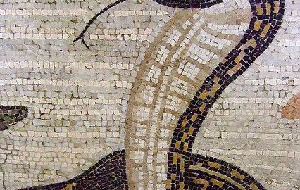 Roman mosaic shows cobra