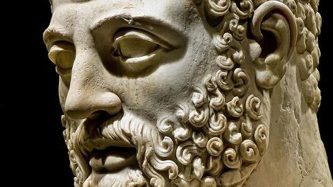 Head of hero Hercules of Tivoli
