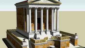 Reconstruction of temple of divine Caesar