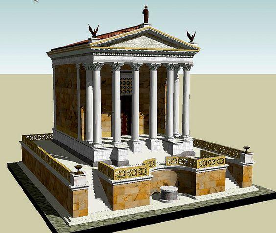 Rekonstrukcja świątyni boskiego Cezara