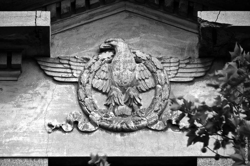 Orzeł - symbol Rzymu na ścianie