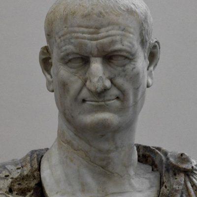 Marmurowe popiersie cesarza Wespazjana