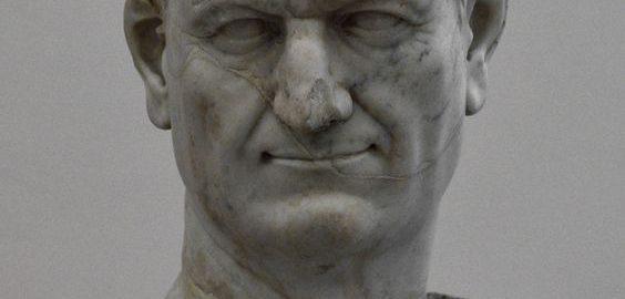 Marble bust of Emperor Vespasian