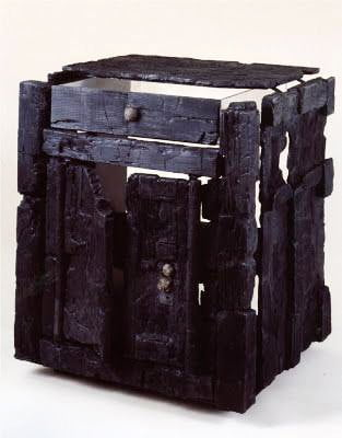 Charred Roman wooden furniture from Herculaneum