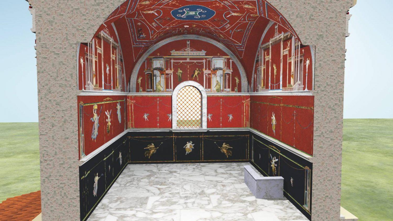 Rekonstrukcja wnętrza grobowca Barberini
