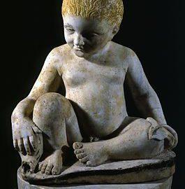 Roman boy-shaped fountain