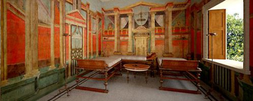 Reconstructed Roman room