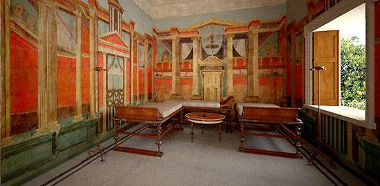 Zrekonstruowany pokój rzymski