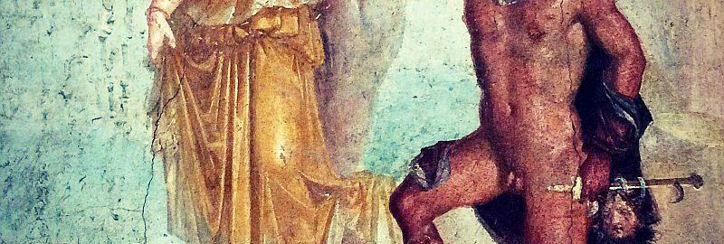 Fresco showing Perseus saving Andromeda