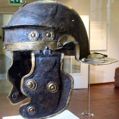 An example of a Roman Imperial-Gallic helmet (galae)
