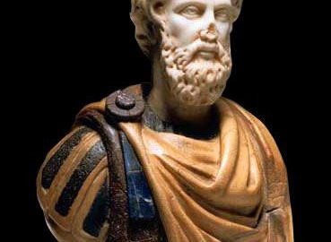 Kolorowe popiersie Marka Aureliusza