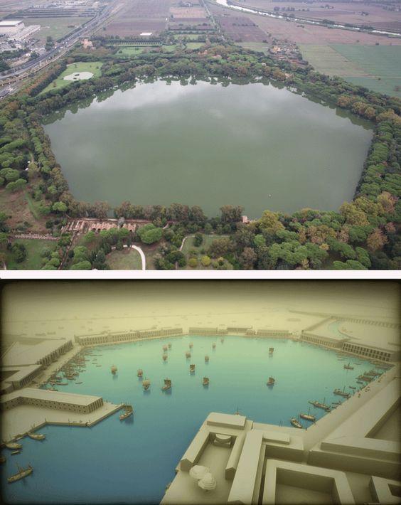 Portus kiedyś i dziś. Sześciokątny basen wybudowany za Trajana
