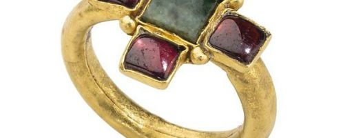 Richly decorated late Roman ring