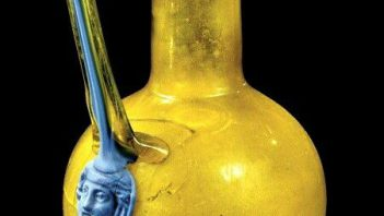 Beautiful Roman colored wine jug