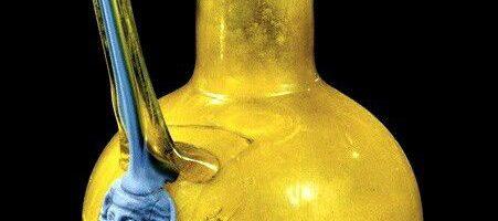 Beautiful Roman colored wine jug