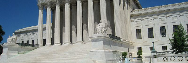 Seat of the Supreme Court of the United States. You can see the  similarities to the Roman style with the naked eye.