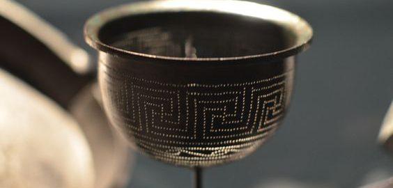 Decorated Roman colander
