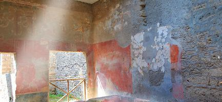 """Roman stone """"bathtub"""" in which fullers worked"""