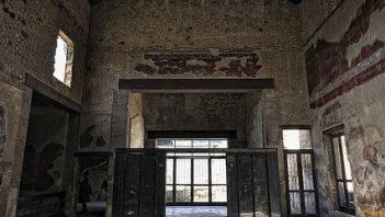 Well-preserved atrium at domus in Herculaneum