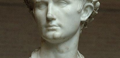 Bust of Augustus with corona civica