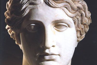 Roman marble head of Amazon