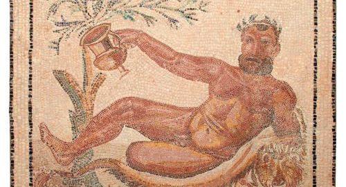 Rzymska mozaika z wizerunkiem nagiego Herkulesa