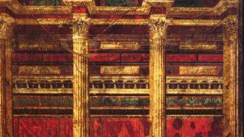 Roman fresco with perspective