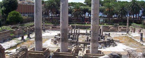 Columns on the Macellum in Pozzuoli
