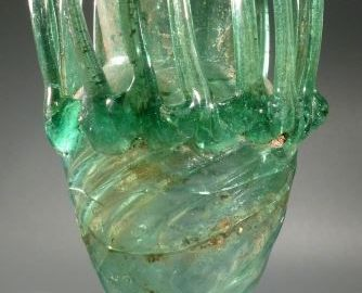 Roman cup made of green glass