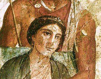 Roman wall fresco depicting Mars and Venus
