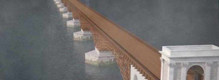 Most Trajana na wizualizacji