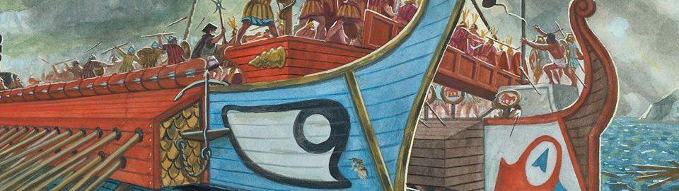 Starcie rzymskiej floty | Zdjęcie: Giuseppe Rava z książki Ospreya: Okręty republikańskiego Rzymu