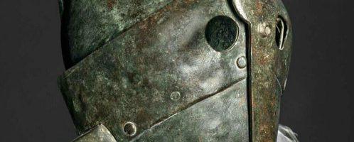 Roman helmet of secutor