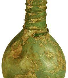 Green Roman bottle