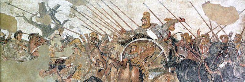 Rzymska mozaika podłogowa ukazująca bitwę pod Issos