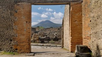 What did Vesuvius look like in ancient times?