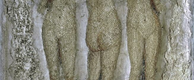 A Roman mosaic showing the Three Graces