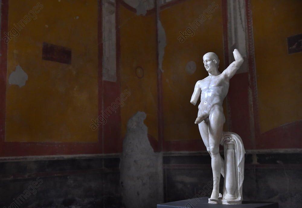 Roman statue showing Priapus - god of fertility