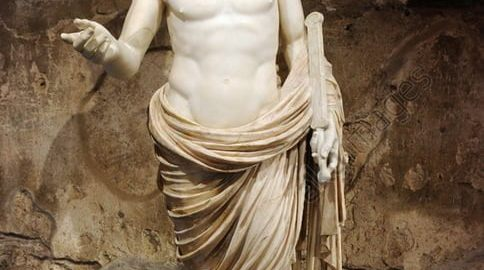 Roman marble statue depicting young man - called Britannicus