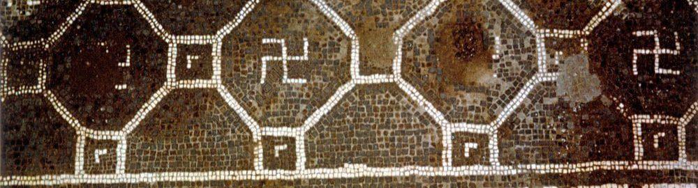 Swastyka na rzymskiej mozaice podłogowej