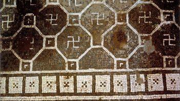 Swastika on Roman mosaic floor