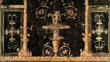 Fresco showing Psyche with flowers