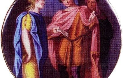 Tytus and Berenice in the painting