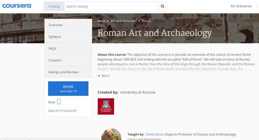Darmowy internetowy kurs w języku angielskim o historii Rzymu