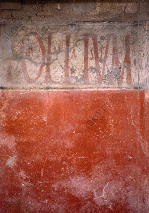 """Rzymska inskrypcja """"Olium"""""""