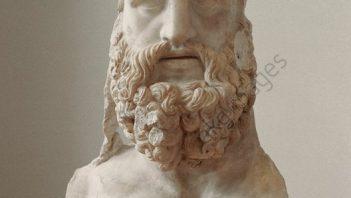 Fragment of Roman sculpture depicting Jupiter Tonans (Thunderer)